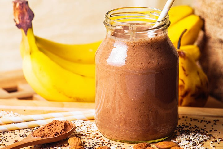 Protein smoothie med banan og mandelsmør
