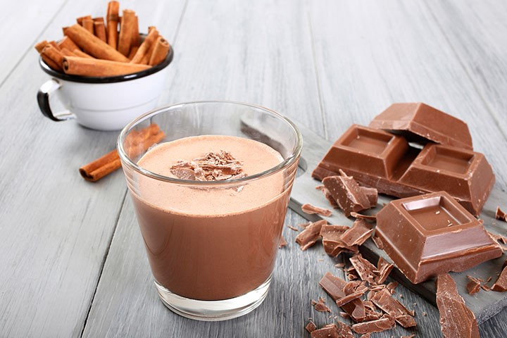 Chokolade & mandelmælk smoothie