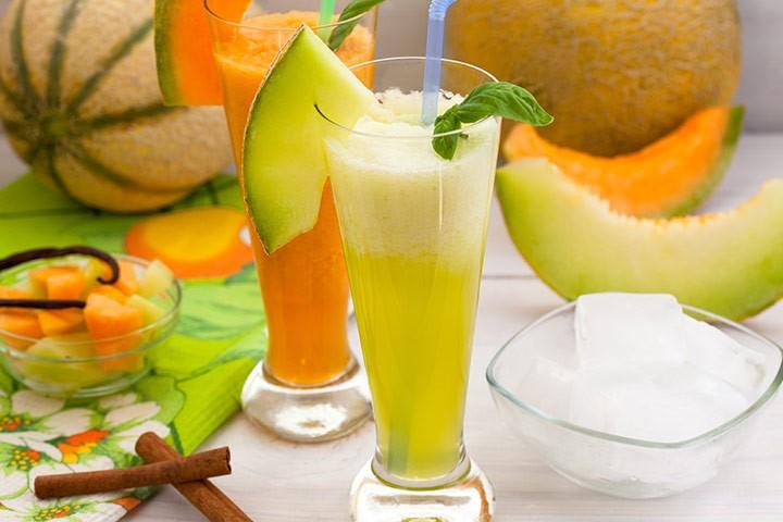 Honningmelon og agurk smoothie