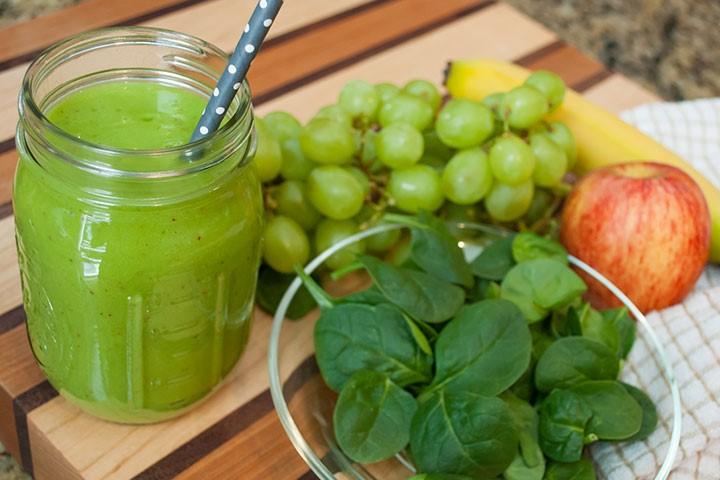 Grøn drue smoothie